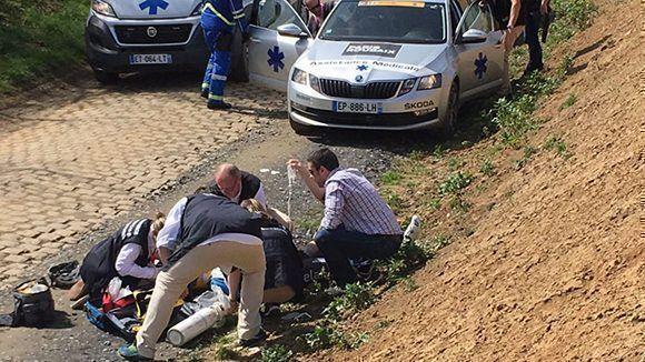 Ciclista sufrió paro cardíaco — París-Roubaix