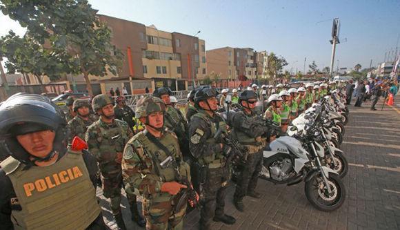Amplio despliegue de seguridad en Lima