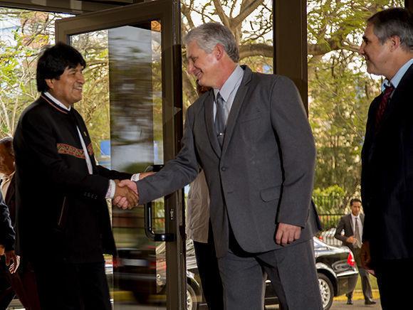 Díaz-Canel y Evo Morales dialogan en Nueva York