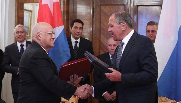 Vicepresidente cubano Ricardo Cabrisas se reunió con canciller ruso