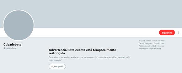 Twitter bloquea cuenta de Cubadebate