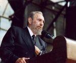 Fidel Castro interviene en la sesión plenaria de la Conferencia Mundial contra el racismo, la discriminación racial, la xenofobia y las formas conexas de intolerancia, en Durban, Sudáfrica, 1 de septiembre de 2001. Foto: Estudios Revolución/ Sitio Fidel Soldado de las Ideas.