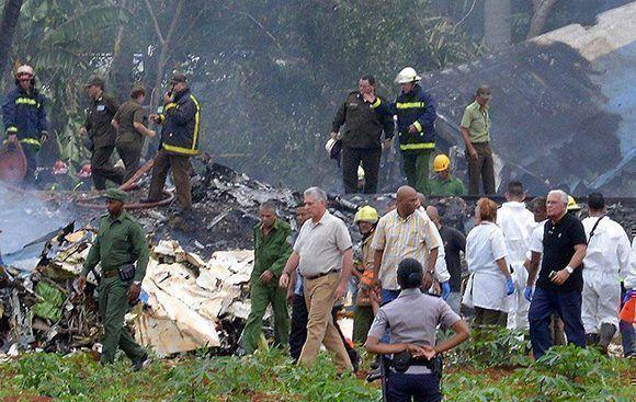 En fotos, accidente aéreo en La Habana
