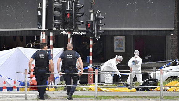 Tres muertos dejó un tiroteo en Lieja, Bélgica