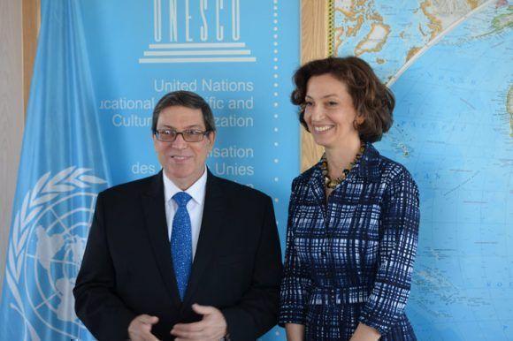 Directora de Unesco recibe a Canciller cubano Bruno Rodríguez