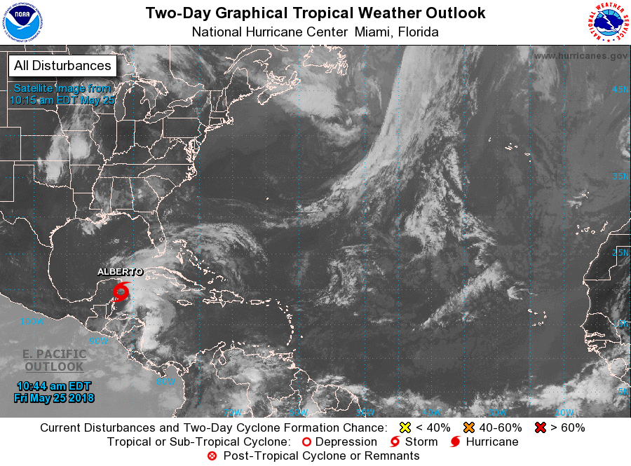 Se formó tormenta subtropical; para Cuba lo más importante son las precipitaciones