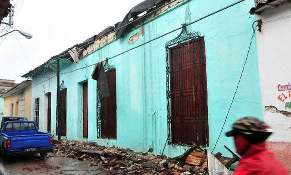En Sancti Spíritus, más de dos mil viviendas afectadas por lluvias