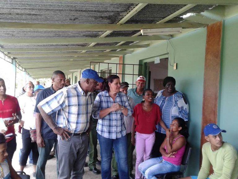 Primer Vicepresidente cubano visita zonas dañadas por inundaciones en Ciénaga de Zapata