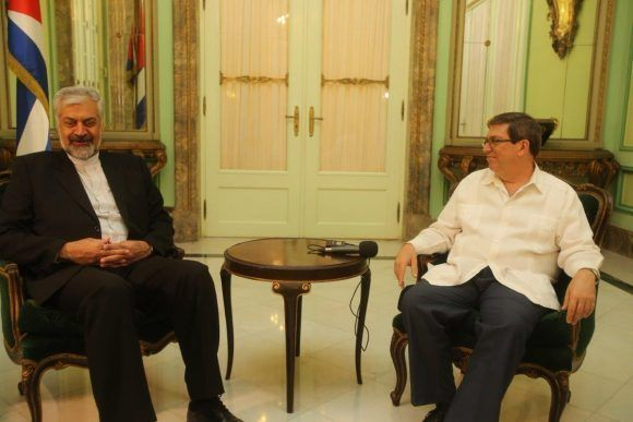 Recibió vicepresidente cubano a enviado especial del Presidente iraní