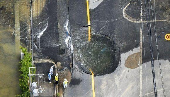 El momento en que un terremoto de 6,1 grados sacude Japón