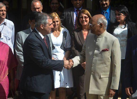 Presidente indio destaca potencialidades de la industria biofarmaceútica cubana