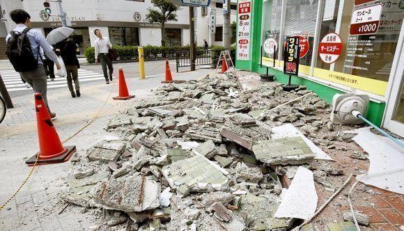 Desastre en Osaka luego del movimiento de tierra. Foto: AP.