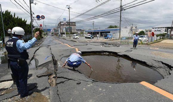 Impacto del terremoto en Japón. Foto: AFP.