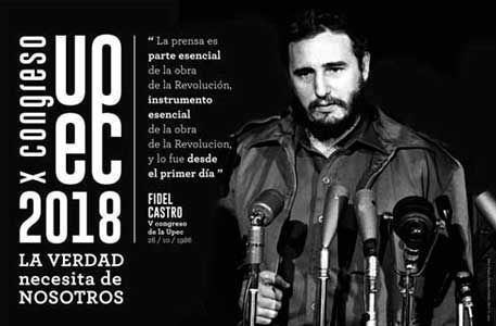 Congress of Cuban journalists will pay tribute to Fidel