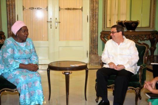 Canciller cubano sostiene encuentro con Ministra de la Presidencia de Sudáfrica