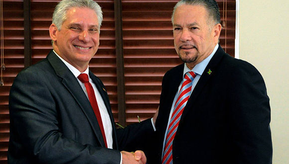 Cuban president Diaz-Canel arrives in Jamaica