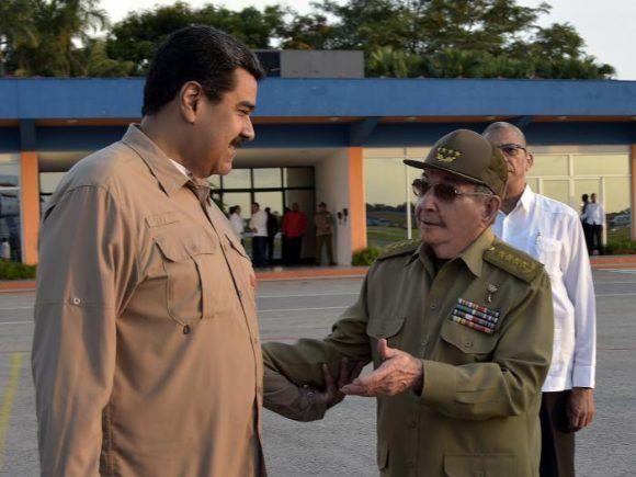 Despidió Raúl Castro en La Habana a Nicolás Maduro