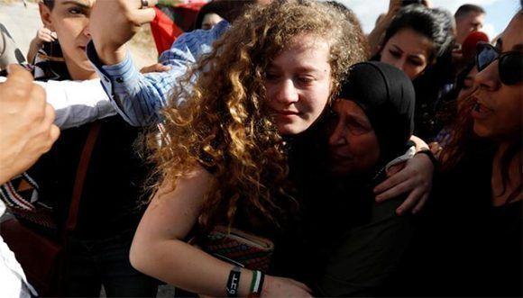 Fue liberada Ahed Tamimi tras ocho meses en prisión — Palestina