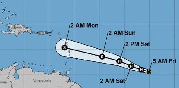 Se convierte Beryl en el primer huracán de la temporada