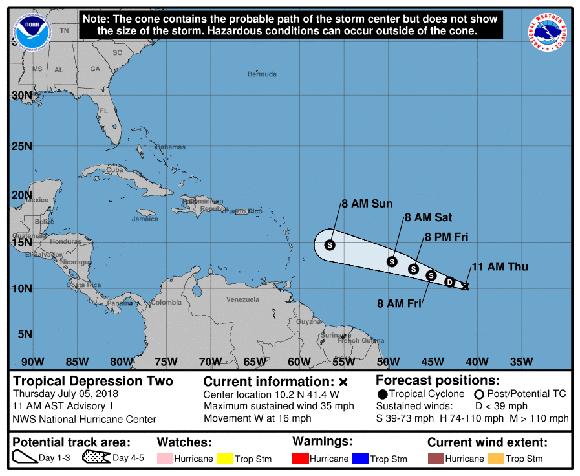 Instituto de Meteorología de Cuba emite aviso de ciclón tropical