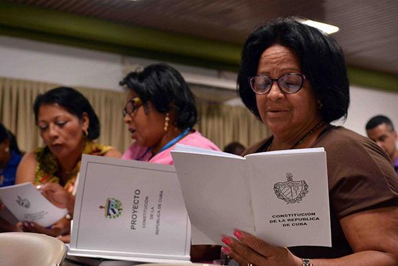 Terminó en Camagüey fase municipal preparatoria para consulta popular del proyecto de Constitución