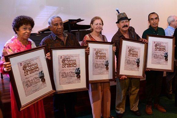 Galardonados con el Premio Nacional de Radio 2018