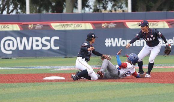 Cubanas caen ante Japón, su tercera derrota en Copa Mundial de Béisbol