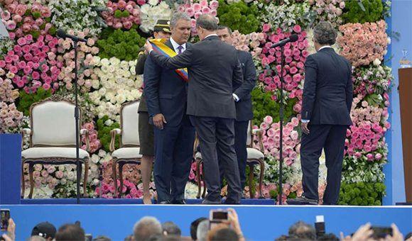 Iván Duque toma posesión como presidente de Colombia