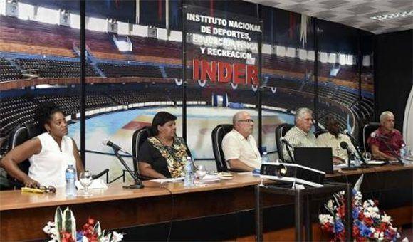 Presidente Díaz-Canel intervino en análisis sobre resultados cubanos en Juegos Centroamericanos y del Caribe