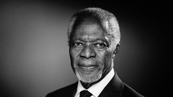 Kofi Annan, ex secretario general de la ONU. Foto: AFP