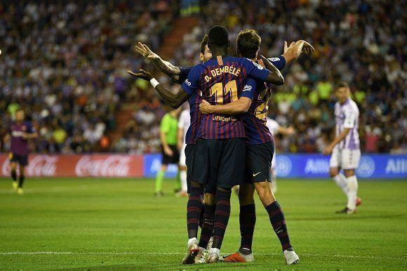 e1c1a154f8 Los jugadores del Barcelona celebran el gol con Dembélé. Foto  Octavio  Passos  Getty Images.