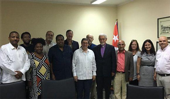 Canciller cubano recibió a representantes del Consejo Nacional de Iglesias de Cristo de los Estados Unidos