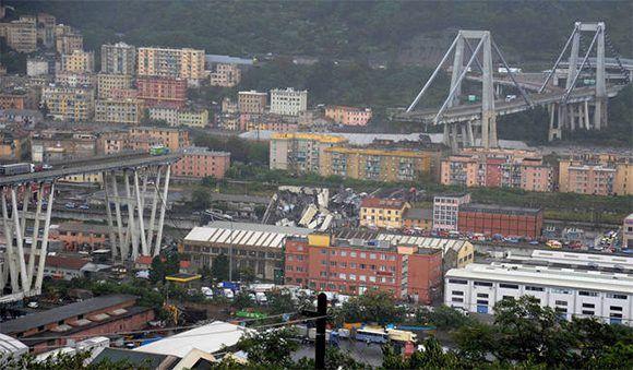 Falla estructural provocada por lluvias causa derrumbe de puente en Italia