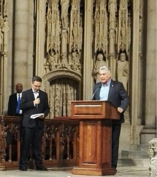 Palabras del presidente cubano en el acto celebrado en la iglesia Riverside en Nueva York