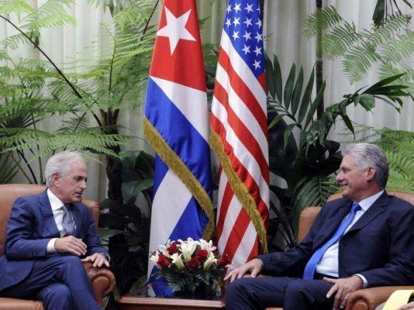 Cuba's Diaz-Canel meets U.S. Senator Robert Corker