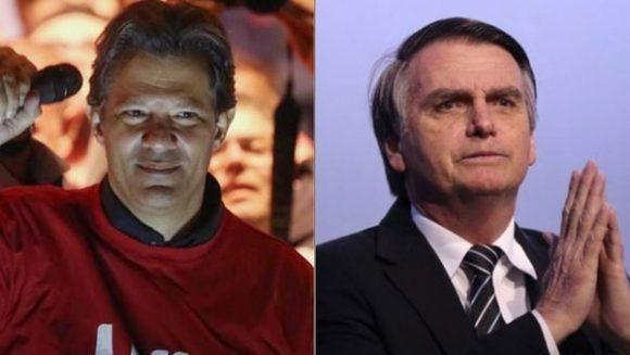 Fernando Haddad and Jair Bolsonaro.