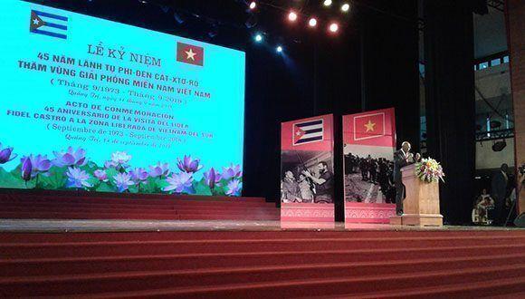 On commémore à Quang Tri l'anniversaire 45 de la visite de Fidel au Viêt-Nam