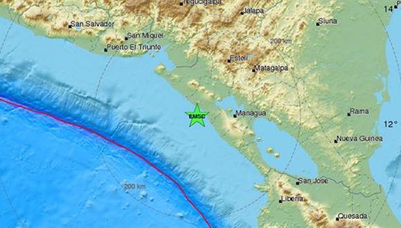 Reportan sismo de 5,9 grados Richter en zona del Pacífico nicaragüense