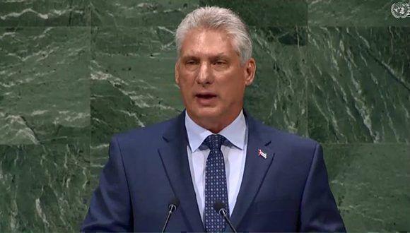 Der kubanische Präsident Díaz-Canel vor der UNO-Vollversammlung