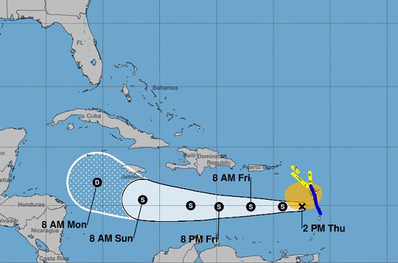Isaac podría debilitarse a onda tropical en las próximas 24 horas