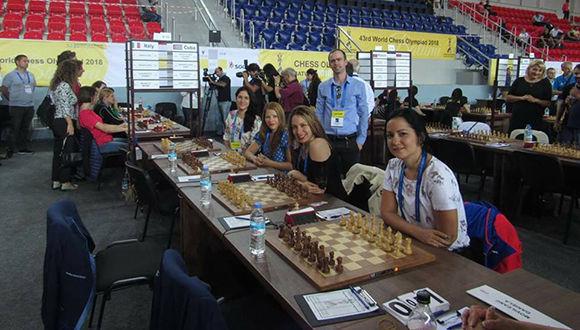 Cubanas superan a noruegas en Olimpiada de Ajedrez