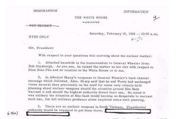 Pentágono planeó el uso de armas nucleares en Vietnam, según documentos desclasificados