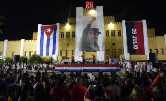 Rinden tributo a Fidel en el histórico Cuartel Moncada