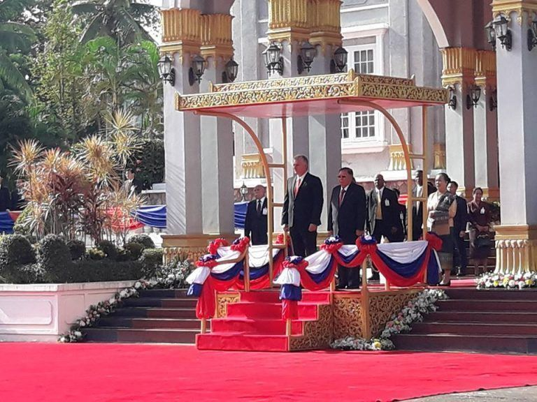Recibe a Díaz-Canel el Presidente de Laos (+ Fotos)