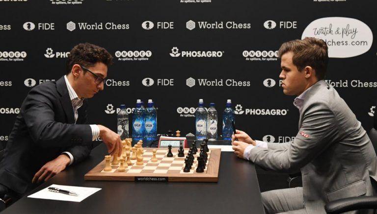 Cinco tablas al hilo en duelo por corona mundial de Ajedrez