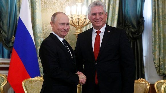 Díaz-Canel a dialogué avec Vladimir Putin