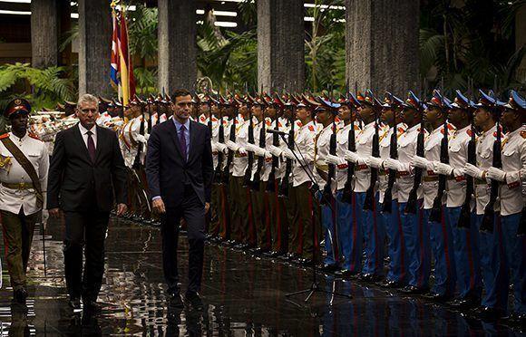 Díaz-Canel a reçu le Président du gouvernement d'Espagne
