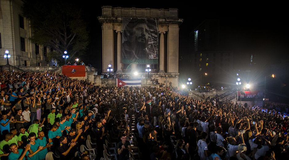 Homenaje al Comandante en Jefe de la Revolución cubana desde su Universidad