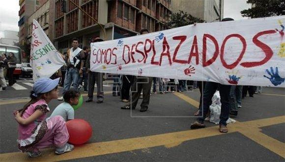 Más de 30 mil colombianos fueron desplazados de sus sitios de residencia en 2018