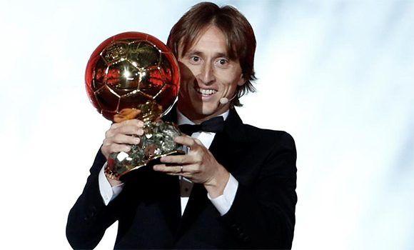 Luka Modric se lleva el Balón de Oro 2018